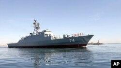 Tàu khu trục Iran Sahand ở Vùng Vịnh.