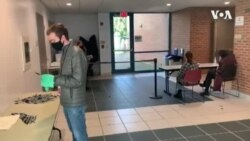 Polling Stations Practice Covid-19 Safety As Americans Vote on Election Day
