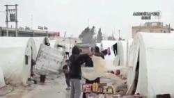 Suriyeli Mülteciler Kara Kışla Mücadele Ediyor