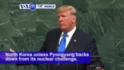 VOA60 World - Trump Threatens 'Total Destruction' of North Korea in First UN Speech