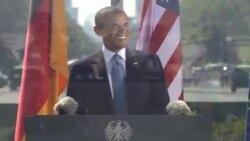 Obama en la Puerta de Brandeburgo