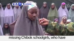 VOA60 Africa - Nigeria: Boko Haram frees over 21 out of 276 missing Chibok schoolgirls