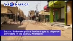 VOA60 Africa - Sudan Police Fire Tear Gas to Break Up Protests