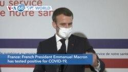 VOA60 Addunyaa - French President Macron Tests Positive for Coronavirus