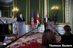 کنفرانس خبری وزرای خارجه آمریکا و بریتانیا روز سهشنبه در لندن برگزار شد.