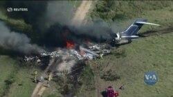 Авіаційна аварія у Техасі: всі пасажири і члени екіпажу змогли вибратися із літака. Відео