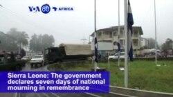 VOA60 Africa - UN: Finding Survivors in Sierra Leone Mudslide Unlikely