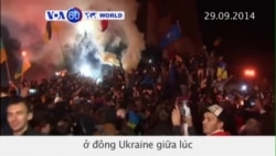 Tượng Lenin bị kéo sập ở đông Ukraine (VOA60)