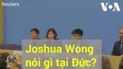 Joshua Wong phát biểu tại Đức