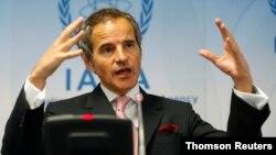 Dirjen IAEA, Rafael Grossi berbicara di Wina, Austria