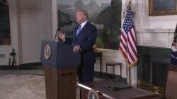 رئیس جمهوری آمریکا: از برجام خارج می شویم اما با متحدان برای یک چاره بهتر همکاری می کنیم