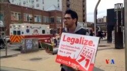 2014-11-05 美國之音視頻新聞: 美國選民就大麻與槍械管制等問題舉行公投
