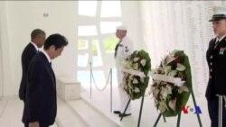"""安倍向珍珠港死難者表示""""真誠和永久的悼念"""""""