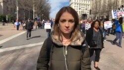 """«Марш за наши жизни»: прямое включение корреспондента """"Голоса Америки"""" Леси Бакалец"""