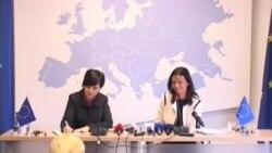 Eurodeputetja Tanja Fajon në Prishtinë