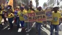 """Protestos na África do Sul - oposição a mensagem é só uma: """"despedir Zuma"""""""