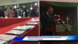 UNITA mostra actas de resultados das eleições contados pelos seus delegados de mesa