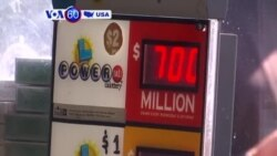 VOA60 America- An unknown lottery ticket in Massachusetts won the $759 million Powerball jackpot