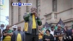 VOA60 AFIRKA: Shugaban Afirka Ta Kudu, Cyril Ramaphosa Ya Sha Alwashin Tsaftace Jam'iyyarsa Daga Yiwuwar Samun Masu Dabi'u Marasa Kyau