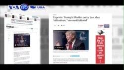 Ông Trump: Tạm thời cấm người Hồi giáo nhập cảnh vào Mỹ (VOA60)