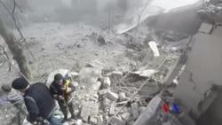 2018-02-20 美國之音視頻新聞: 敘利亞軍隊猛攻首都郊區近六百人死傷