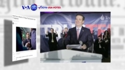 VOA60 Elections - Texas Senator Ted Cruz won the Republican Iowa caucuses