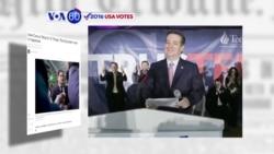 VOA60 Elections - Texas Senator Ted Cruz won the Republican Iowa caucuses