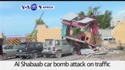 VOA60 Africa - Somalia: At least three police officers dead in Al Shabaab car bomb attack in Mogadishu