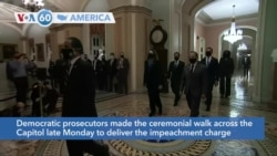 VOA60 Ameerikaa - US House Lawmakers Deliver Article of Impeachment to Senate