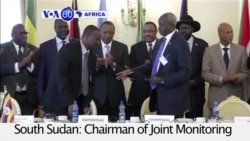VOA60 Africa- Festus Mogae expresses concern about delays in forming transition government in South Sudan