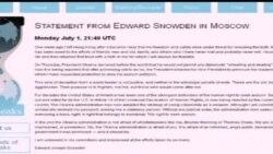 2013-07-02 美國之音視頻新聞: 斯諾登放棄向俄羅斯申請政治庇護