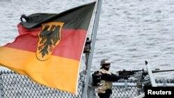 Tư liệu- Thủy thủ trên tàu chiến của Hải quân Đức German trong các cuộc diễn tập ở Biển Baltic, gần Rostock, Đức, ngày 11,/9/2019. (Reuters)