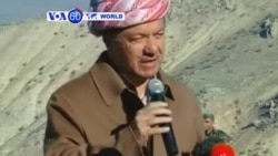VOA60 Duniya: Shugaban 'Kurdawa ya Ziyarci Dutsen Sinjar, Iraqi, Disamba 22, 2014