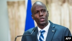 FILE - Haitian President Jovenel Moise speaks at the National Palace in Port-au-Prince, Feb. 24, 2017.