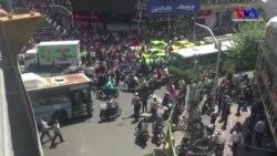 İran'da Protestocular Meclis Önünde Polisle Çatıştı