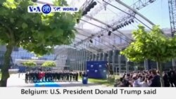 "VOA60 World - U.S. President Donald Trump said that members of the NATO alliance need to contribute their ""fair share"" to NATO's budget"