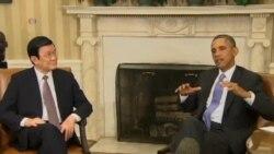 奥巴马会晤张晋创 美越发展新关系