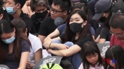 香港抗議學生對撤回條例草案的反應 (粵語)