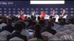 Inama y'ubukungu bw'isi ibera I Kigali mu Rwanda igeze ku munsi wayo wa kabiri