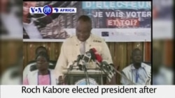 VOA60 Africa - Burkina Faso: Former Prime Minister Roch Kabore elected president