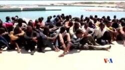 2014-07-20 美國之音視頻新聞: 19名移民死在地中海的船上