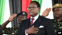 FILE - Malawi's President Lazarus Chakwera in Lilongwe, Malawi, June 28, 2020.