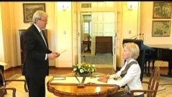 2013-06-27 美國之音視頻新聞: 陸克文宣誓就職再度擔任澳洲總理