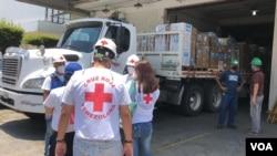 Envío de la Cruz Roja con suministros para Venezuela. Caracas, Venezuela. 13 de abril de 2020. Foto: Álvaro Algarra - VOA.