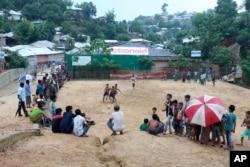 Children play at the Kutupalong Rohingya refugee camp in Cox's Bazar, Bangladesh, June 2, 2020.