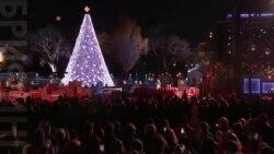 Обама зажег огни на елке у Белого дома