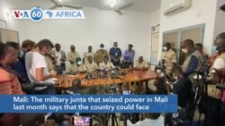 """VOA60 Afrikaa - Mali's military junta says the country could face a """"total embargo"""" from West African countries"""