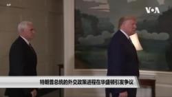 特朗普总统的外交政策进程在华盛顿引发争议