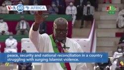 VOA60 Africa - Burkina Faso's President Roch Kabore sworn in