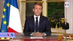 Prezidan Emmanuel Macron Annonse Rekonstriksyon Katedral Pari a Ki Domaje Anba yon Gwo Dife